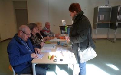 Doorlopend stemmers in Wilgenbroek