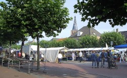 Extra kraam op weekmarkt Boxtel