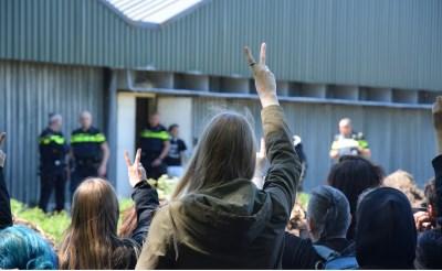 Foto 'misstand' in Brede Heide, blijkt actie Meat the Victims in Spanje te zijn