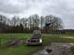 Tent nodig om praalwagen te bouwen