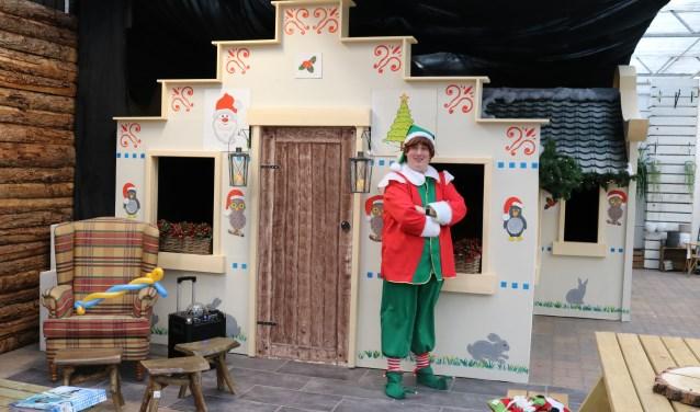 Joris de Kerstelf voor 'het huis van de kerstman'.