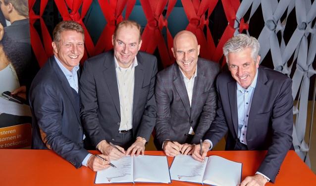 Peter Waterman, Mario Franken (voorzitter Raad van Commissarissen Rabobank Oost Betuwe), Paul Brouwer, Bart Bosman (voorzitter Raad van Commissarissen Rabobank