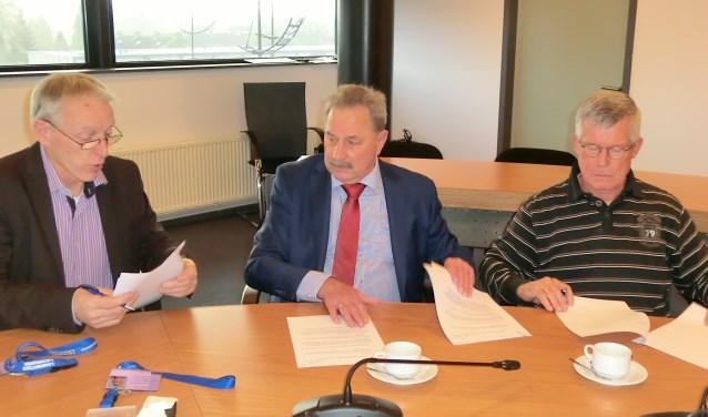 Michel Lepoutre, Ronnie van den Oever en Adri van Beem.