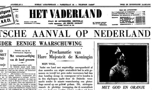 De Duitse inval in Nederland, 10 mei 1940.