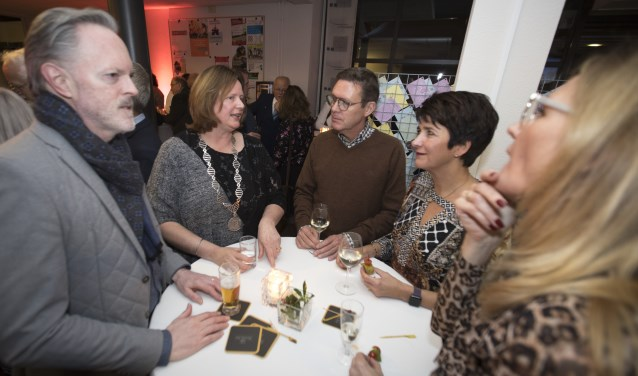 Burgemeester Daphne Bergman tijdens de nieuwjaarsbijeenkomst.