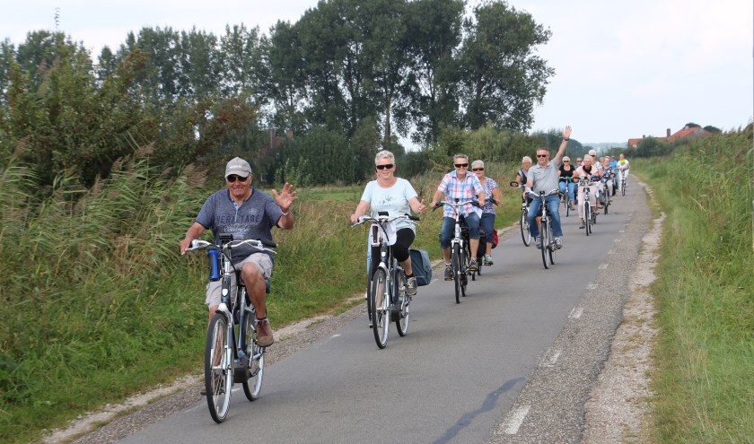 Fruitfietsen tijdens Dijkensport.nl.