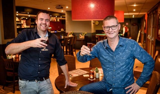Niels Gijsbers (links) en Frank de Jong (rechts) in De Meent.