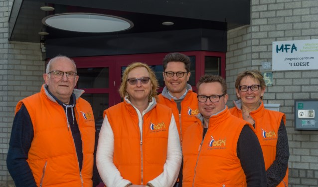V.l.n.r.: Mathé van Hoek, José de Wit, Carl-Jan Jongen, Frank Smulders en José Koolen  | Fotonummer: f452ad