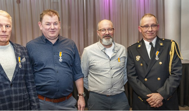 Vlnr: Johan Kees, Gert Vlassak, Paul Huijers en Thijs Neeskens, foto: Jos Meusen.