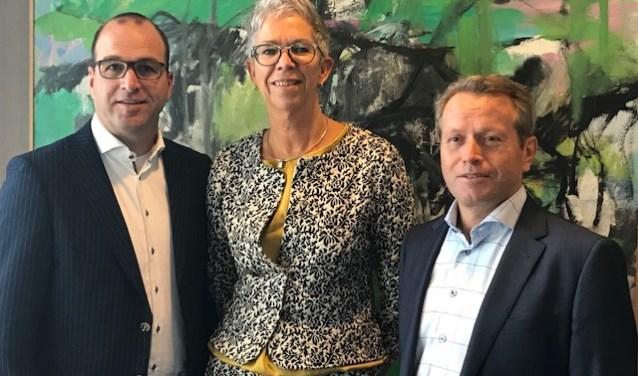 V.l.n.r. Rob Knoops, Marja Blankman en Hans de Kinderen