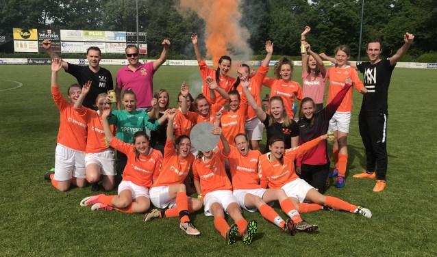Het kampioensteam sv Budel MO17-1