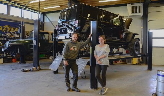 Arno en Karin in de werkplaats van 4 Low, foto: Desiree Pennings