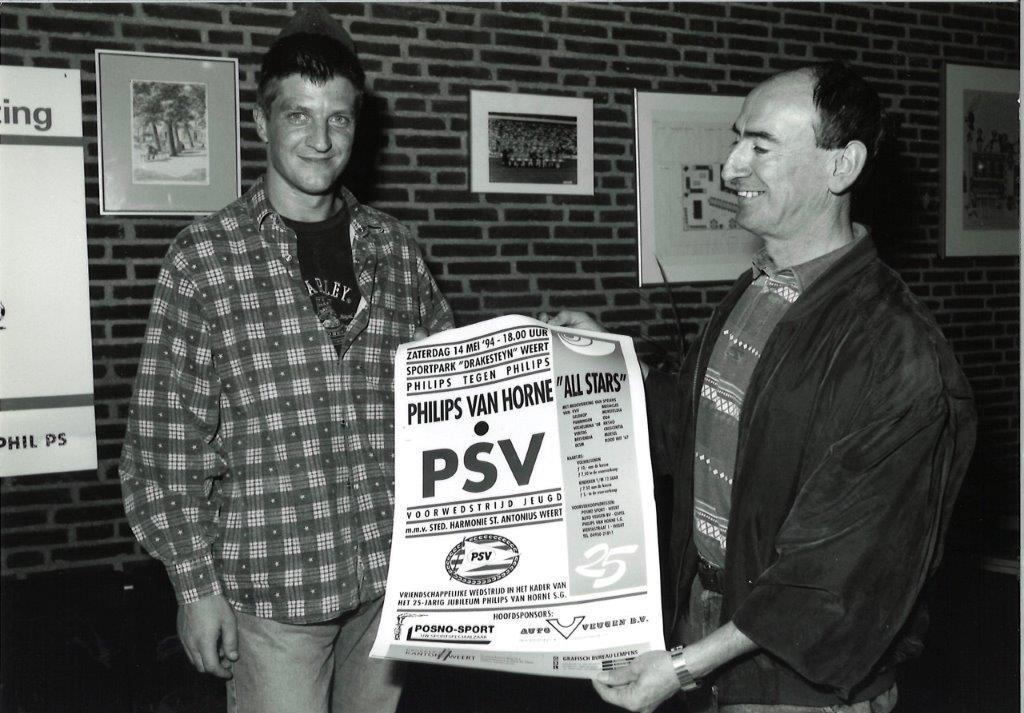 1993 PvH - PSV Piet Rietjens en Wim Kieft  © grenskoerier