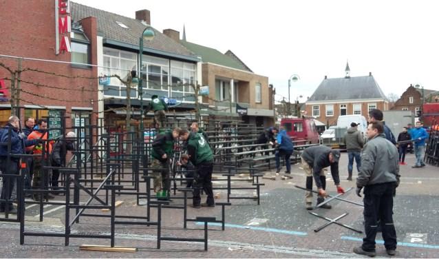 De tribune komt ook dit jaar weer op de Markt in Budel
