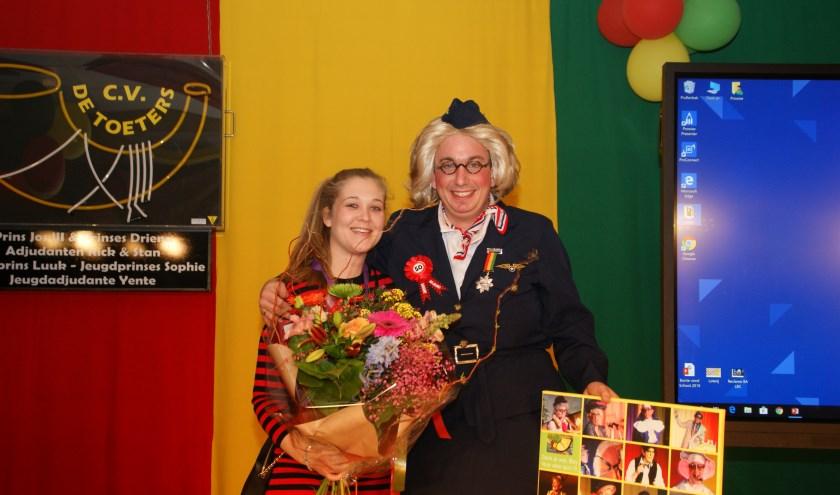 Boy en Jennifer met de meer dan verdiende Zilveren Toeter!