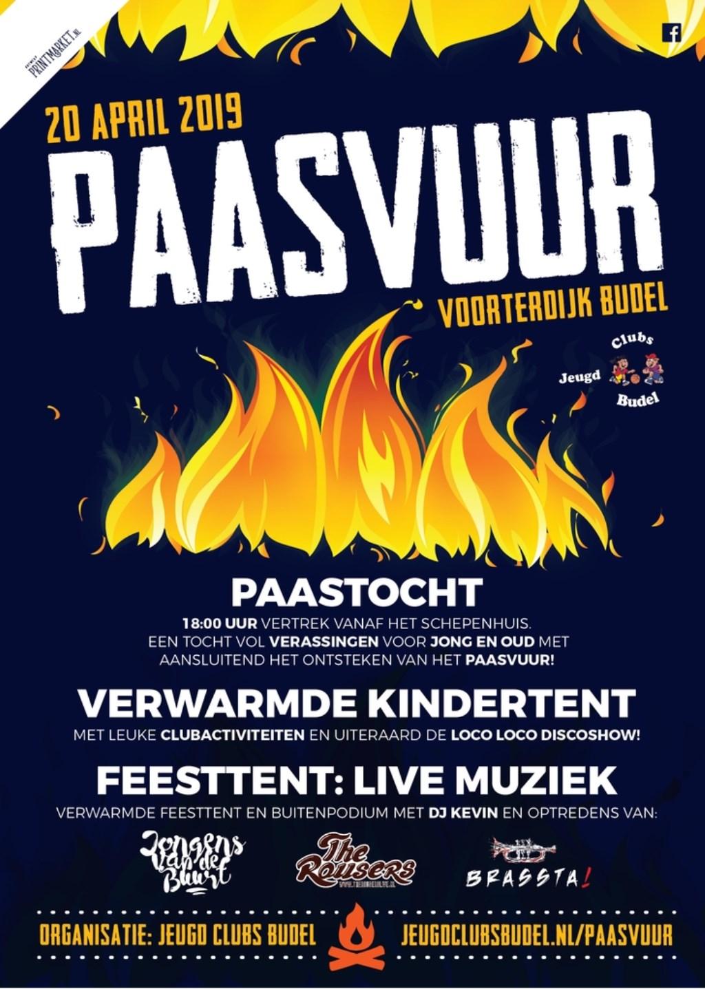 Poster Paasvuur 2019 Foto: nvt © grenskoerier