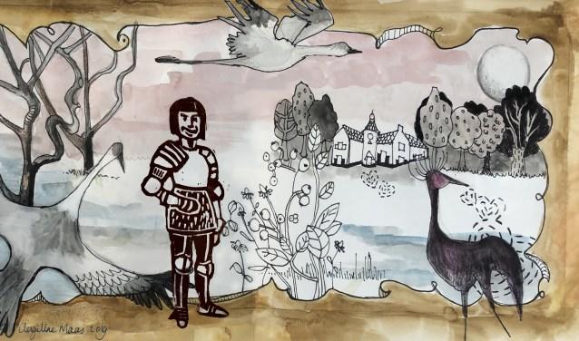 De Baronie van Cranendonck, tekening: Angeline Maas