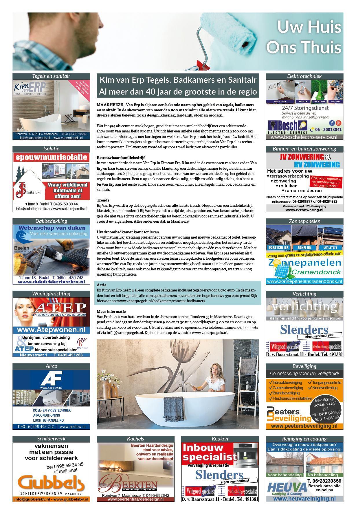 De Grenskoerier - Kim van Erp tegels, badkamers en sanitair