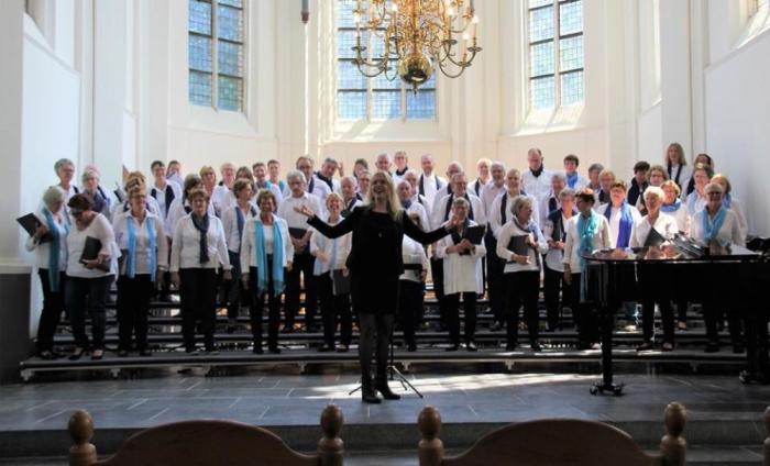The Joy tijdens het korenfestival in de Oude Kerk in Ede