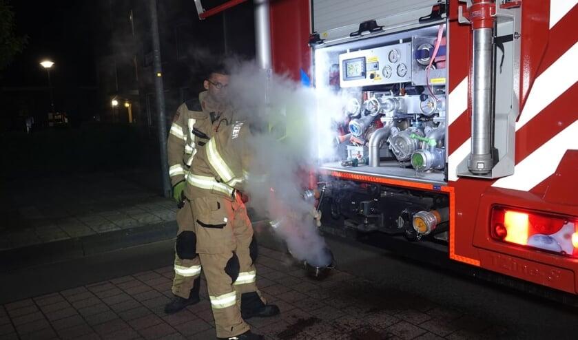 Bewoner sluit zich buiten; brandweer in actie voor pannetje op het vuur