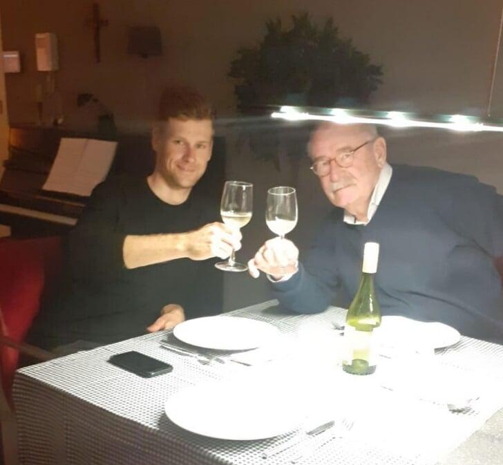 Lennard Hofstede met Hans van Manen