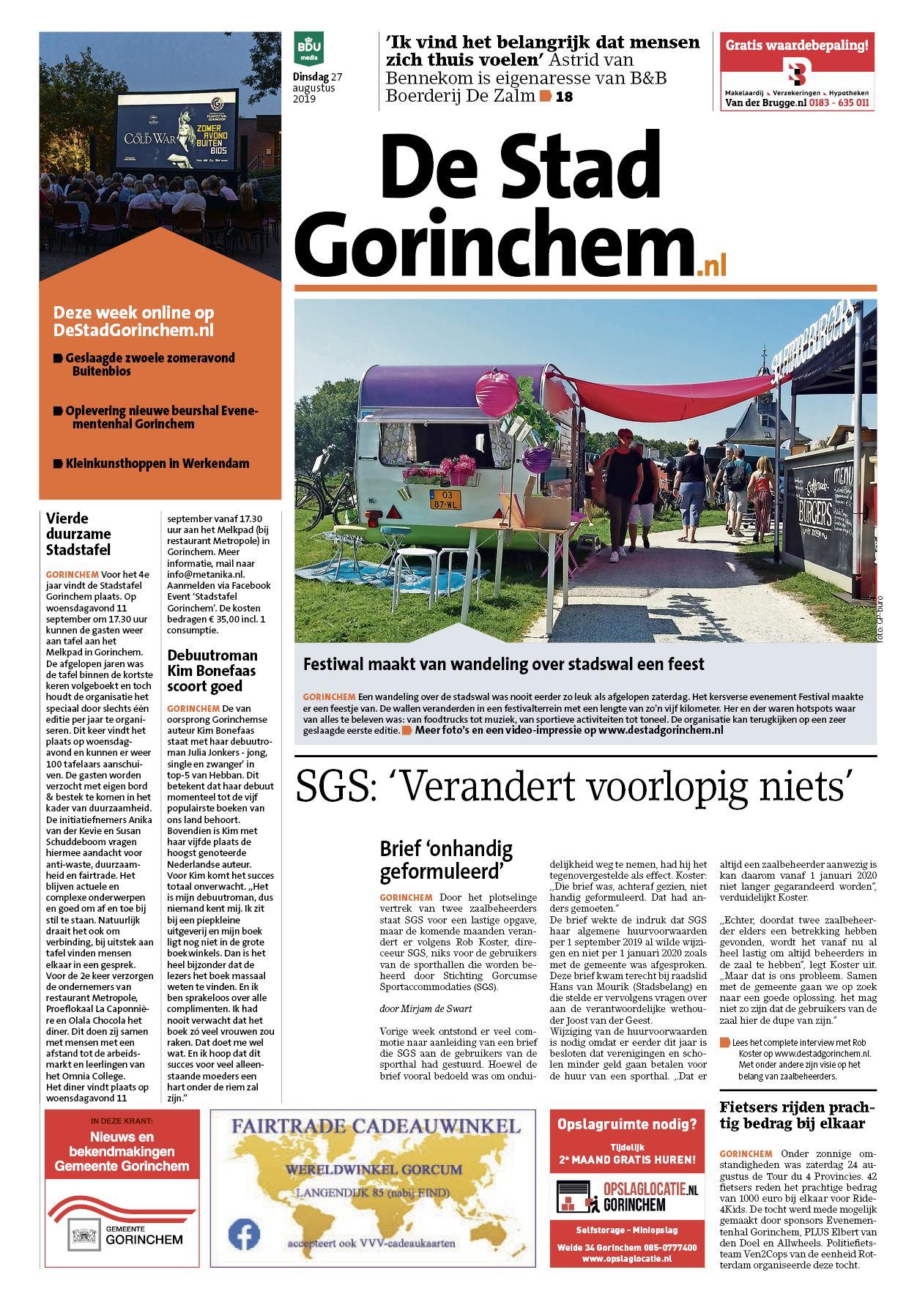 De Stad Gorinchem voorpagina