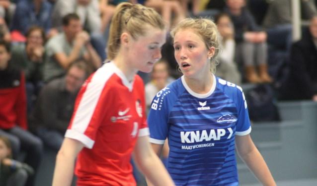 Babette Blok maakte de 1-1 voor Nieuwerkerk. (archieffoto)