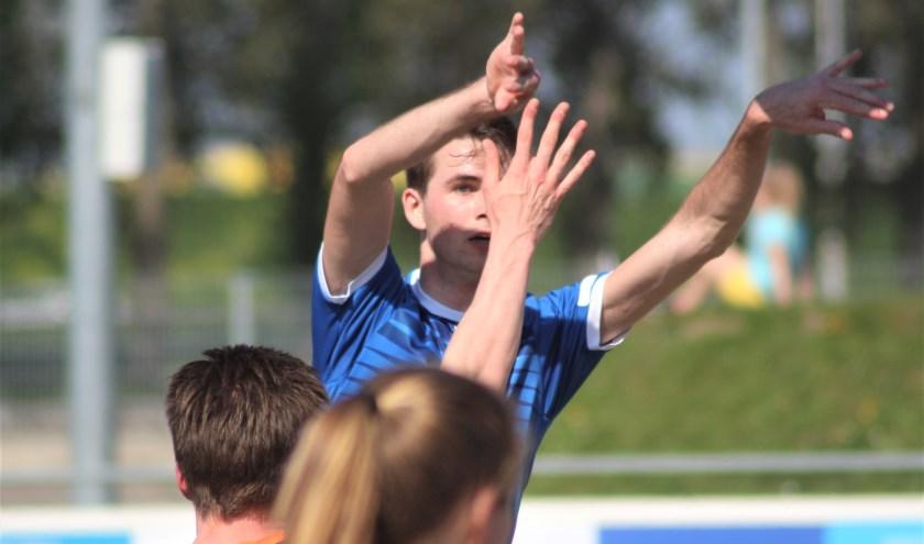 Koen Collée tijdens de laatste veldcompetitiewedstrijd tegen GKV.