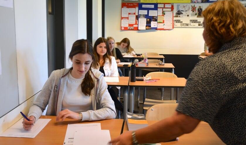 Mylène Legerstee begint aan haar zwaarste examen.(foto: Judith Rikken)