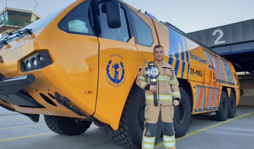 Als brandweerman draait Korving ook 24-uursdiensten; geen ideale combinatie met de dagelijkse bokstrainingen.