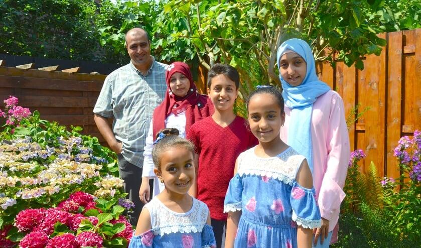 Het gezin Al Harazi woont sinds acht maanden in Nieuwerkerk. (foto en tekst: Judith Rikken)