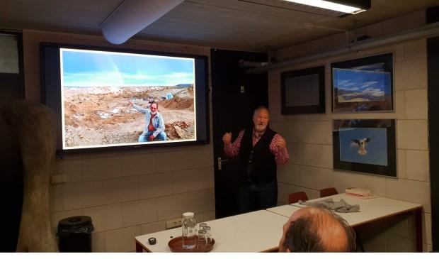 De ontdekker van het diplodocusskelet, professor Jacob 'Kirby' Sieber. Foto: Sander van Kasteren © MooiBoxtel