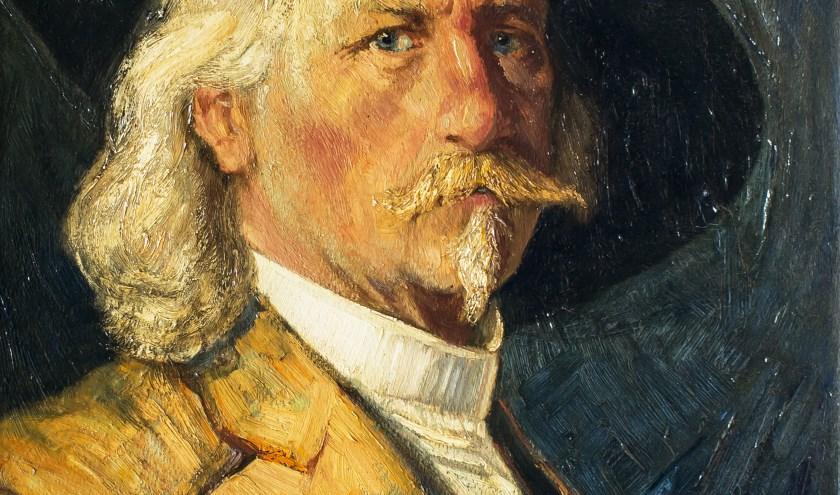Schilderij met zelfportret Jan Kruijsen. (fotograaf Rini van Oirschot)   | Fotonummer: 10ad21