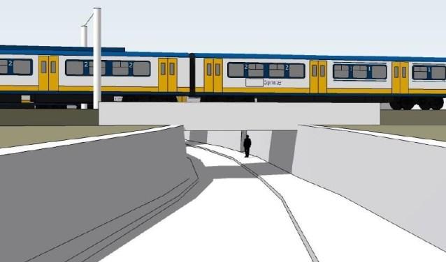 Het voorlopig ontwerp van de fietstunnel.   | Fotonummer: c55962