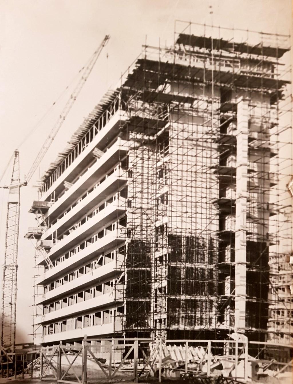 De bouw van Hoogheem in 1967 of 1968. Foto: Beeldbank Heemkunde Boxtel, Wim van Asveldt © MooiBoxtel
