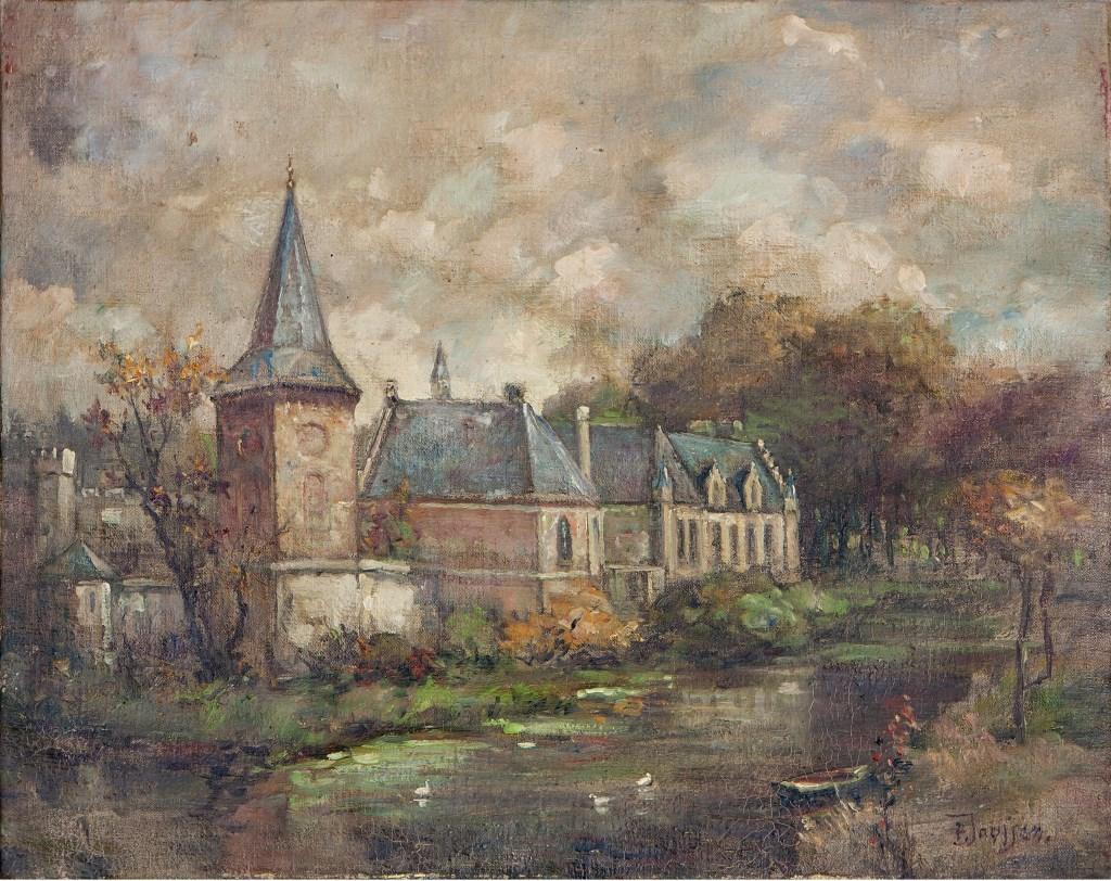 Het kasteel inspireerde ook de Boxtelse kunstschilder Pierre Janssen.   | Fotonummer: a103d6