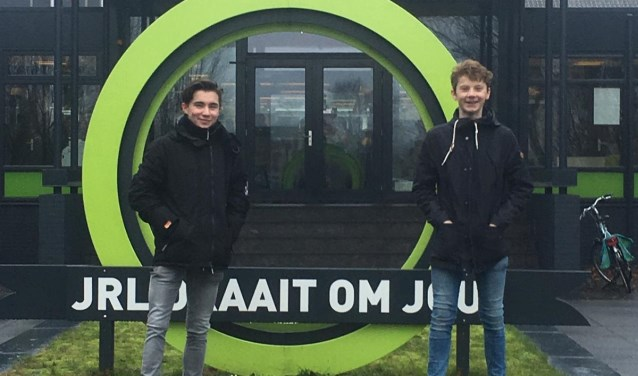 Initiators van de staking Teun Toemen (l.) en Gijs Lagerweij.  | Fotonummer: 1f60b6