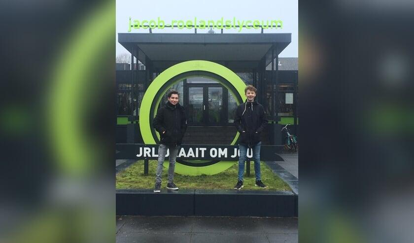 Initiators van de staking Teun Toemen (l.) en Gijs Lagerweij.     Fotonummer: 1f60b6