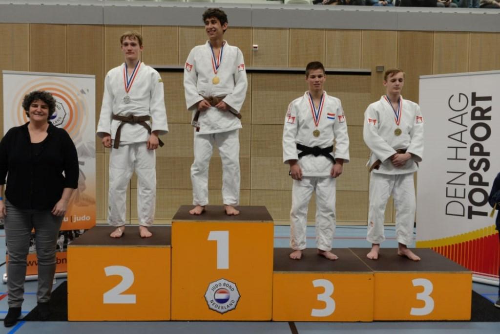 Jan Verhoeven 3e judoka op podium  | Fotonummer: 63911b
