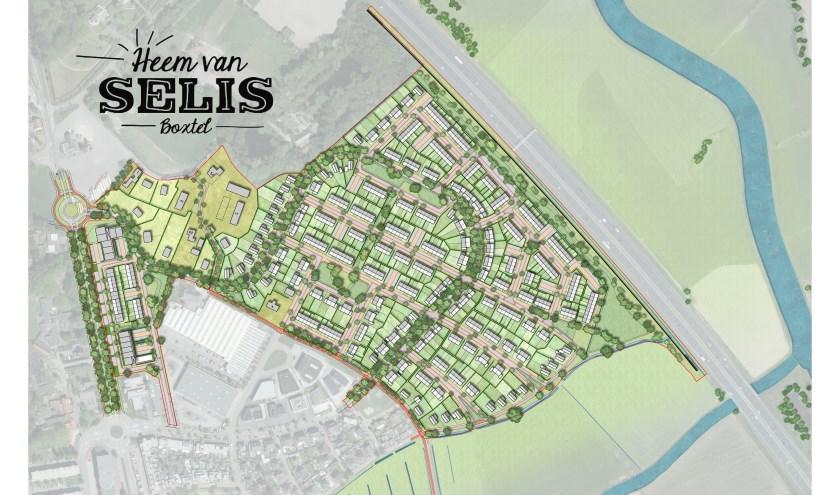 Een schets van de nieuwbouwwijk Heem van Selis.     Fotonummer: df77f2
