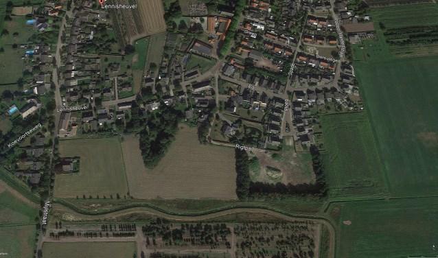 Het gebied waar 'Achter den Eijngel' gerealiseerd wordt.     Fotonummer: 9c235c