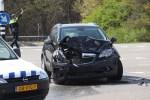 Auto op zijn kop bij ongeval op Bosscheweg in Boxtel