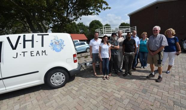 Een gedeelte van de groep vrijwilligers van vluchtelingenwerk Tholen.