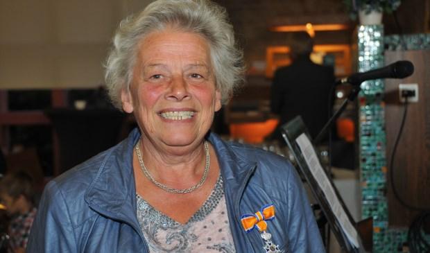 Anneke van Strien werd totaal verrast met de onderscheiding.