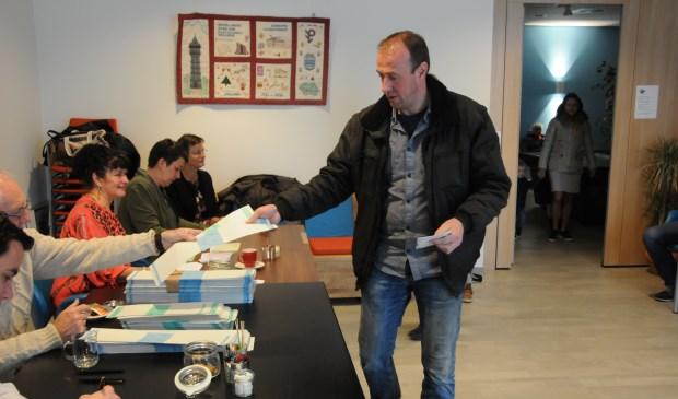 Het stembureau in Sassegrave in Scherpenisse.