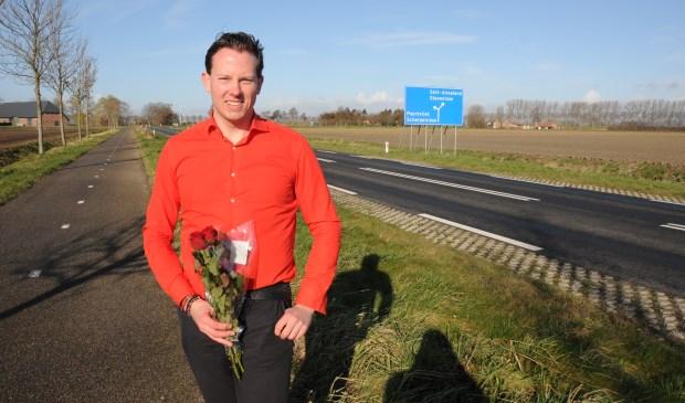 Ralph van Hertum tussen Oud-Vossemeer en Sint-Annaland.