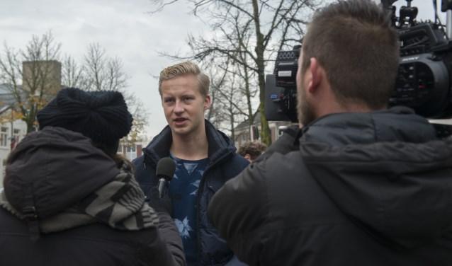 Lijsttrekker Thijs van Zutphen tijdens een interview voor tv  | Fotonummer: 3bfd92
