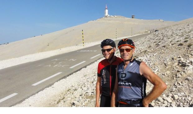 Ben (l) en Jo op de Mont Ventoux.  | Fotonummer: 522d6d