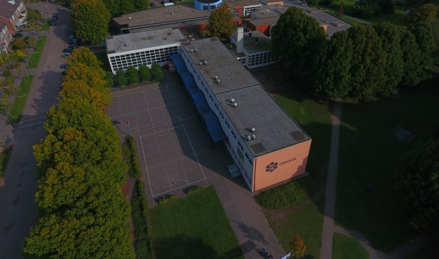 De Odaschool vanuit de lucht.  | Fotonummer: 931b8f
