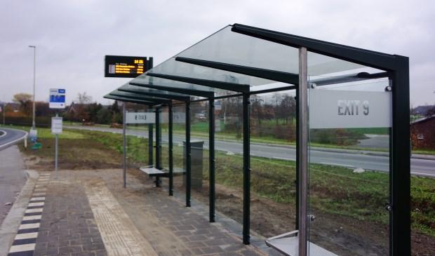 Aan de zijkant staat heel duidelijk Exit 9 vermeld.   | Fotonummer: dca59c